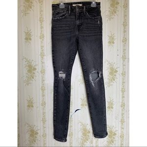 Levi's 721 High Rise Distressed Jeans